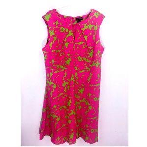 Ashley Stewart Empire Waist Linen Dress Sleeveless